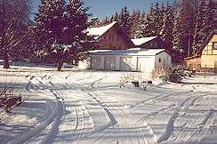 Wohnmobil-Stellplatz im Winter